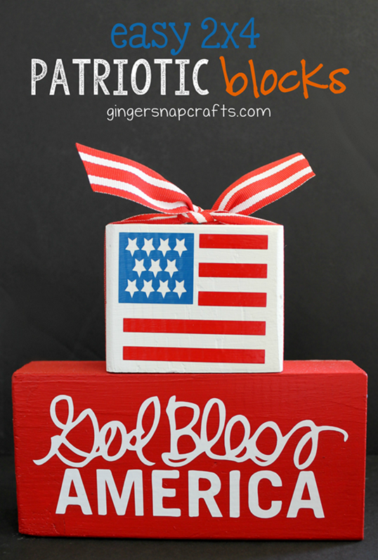 Easy 2x4 Patriotic Blocks at GingerSnapCrafts.com #silhouettechallenge #silhouetteCAMEO #silhouetteportrait #tutorial_thumb[3]