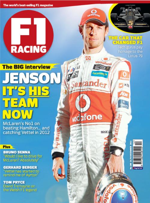 Дженсон Баттон на обложке декабрьского F1 Racing 2011