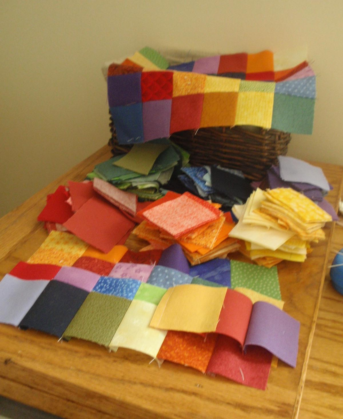 quilt involves 36 blocks.