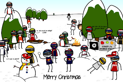 рождественская открытка от Unlap