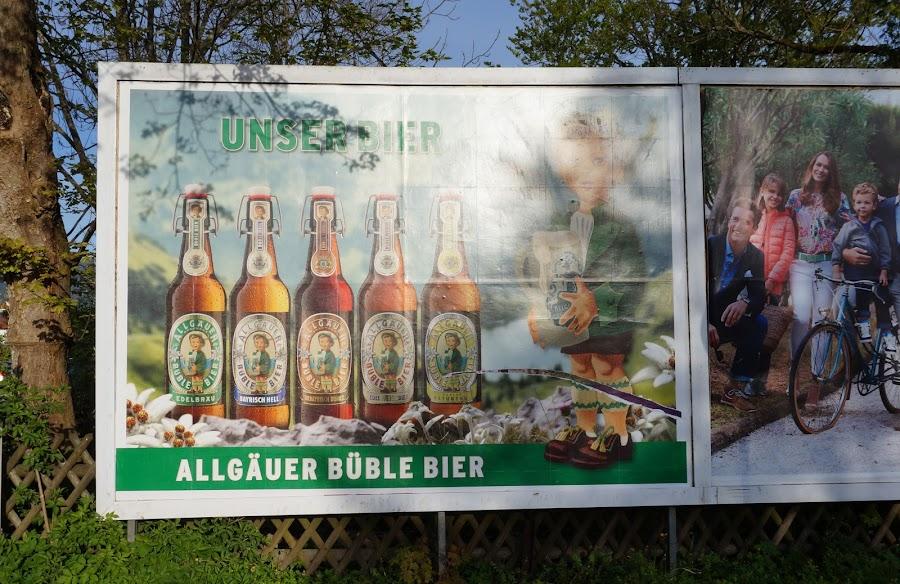 Реклама пива Allgäuer Büble Bier