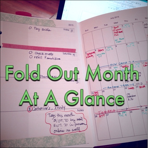 planner fun folded month at a glance printable