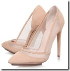 KG Kurt Geiger nude high heeled court shoes