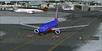 Southwest 1163 holds short of runway 23 at Providence RI, making final cockpit preparations for the long flight to Las Vegas