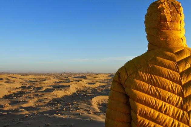 Enjoying the view of the sand dunes of Verzaneh, Iran
