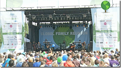 The main stage at the Global Family Reunion