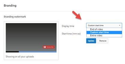 อัพโหลด youtube watermark
