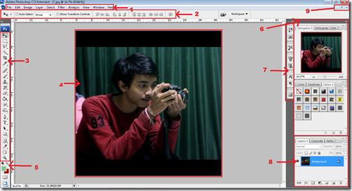 Mengenal bagian-bagian photohsop detail dan lengkap