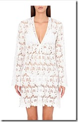 Melissa Odabash white lace tunic dress