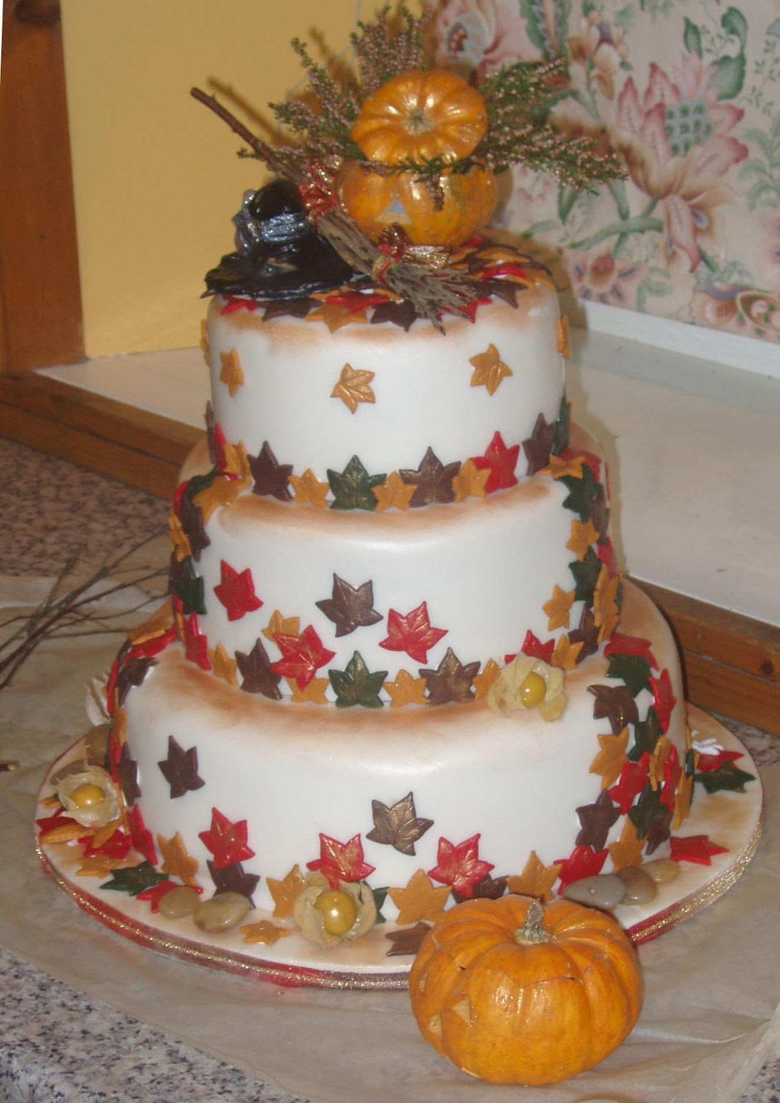 Chocolate Autumn Wedding Cake