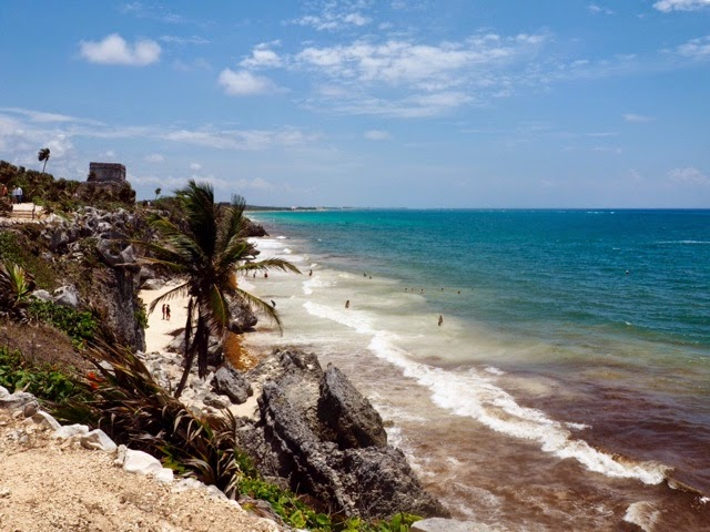 Tulum ruins and beach, Mexico