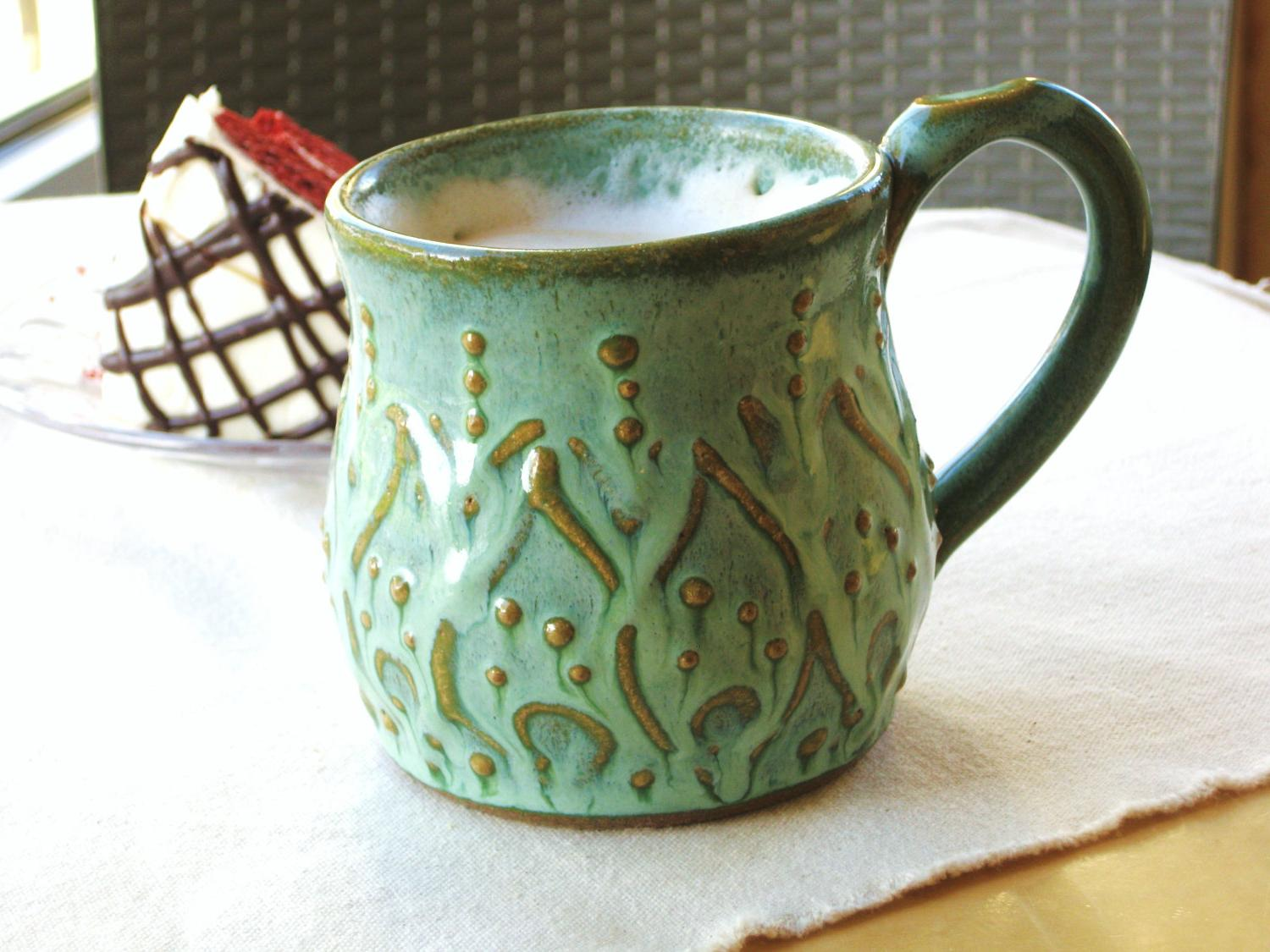 Aqua Rain Turquoise Mediterranean Hand Thrown Wedding Housewarming Gift