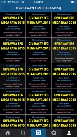 give away, raya 2015, EFG, aidil fitri
