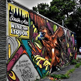 by Rhonda Rossi - City,  Street & Park  Street Scenes