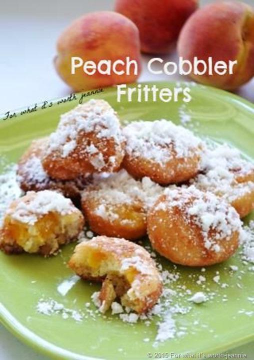 peach cobbler fritters