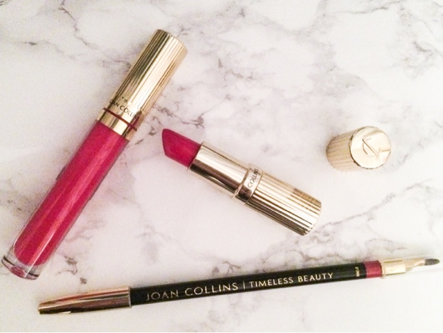 joan-collins-timeless-beauty-divine-lips-fontaine-lipstick-glorious-gloss-too-hot-to-handle-lipgloss-contour-lip-pencil-brush-duo-pink-lips-holy-grail-lipstick-hollywood-glamour-beauty-blog-cosmetics