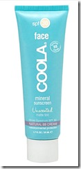Coola Mineral sunscreen for face