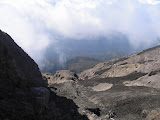 Looking back down the trail on Gunung Raung from the crater rim (Daniel Quinn, July 2011)