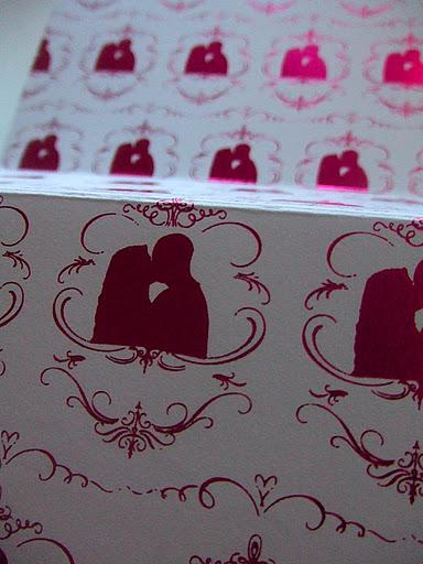 Metallic foil stamp of their