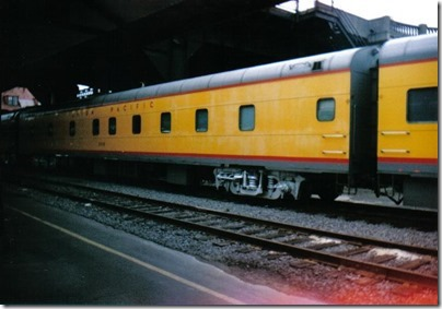Union Pacific Power Car #208 at Union Station in Portland, Oregon on September 26, 1995