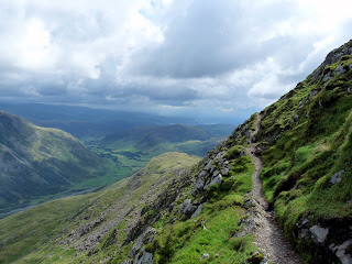 Langdale from The Climbers Traverse - Bowfell