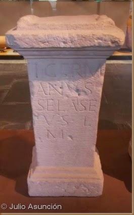 Ara romana con mención al dios vascón Selatse - Museo de Navarra
