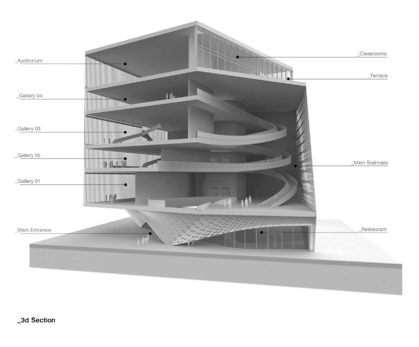 05 Cultural Center of Chapultepec Competition Entry