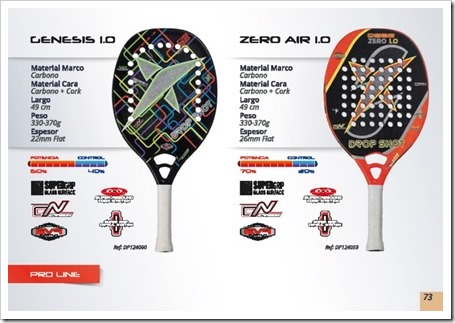 Drop Shot Tenis Playa Beach Tennis 2015 genesis 1.0 y zero air 1.0