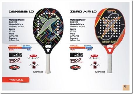 Drop Shot Tenis Playa Beach Tennis 2015 genesis 1.0 y zero air 1.0