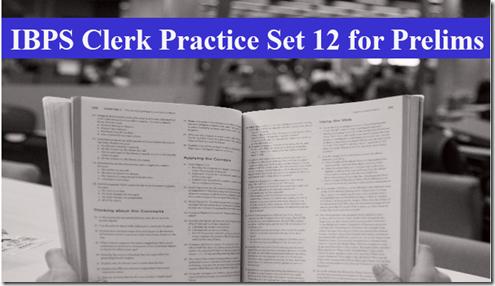 IBPS Clerk Preliminary Question paper PDF Set 12
