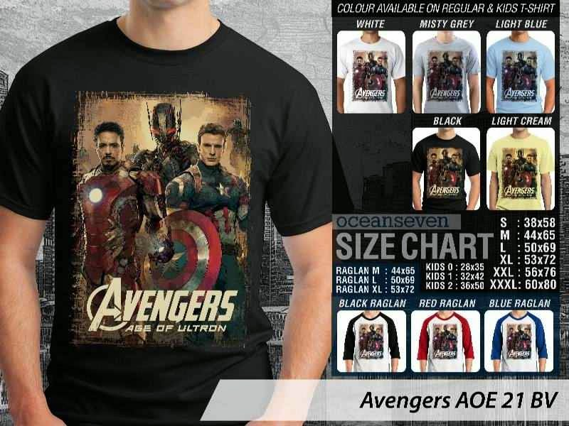 Jual Kaos Captain America superhero Avengers 21 Ironman