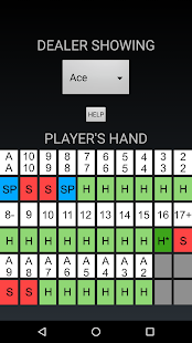 Blackjack Cheat Sheet - screenshot