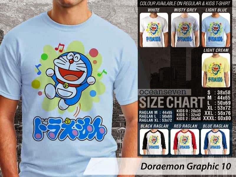 KAOS Doraemon 50 Manga Lucu distro ocean seven