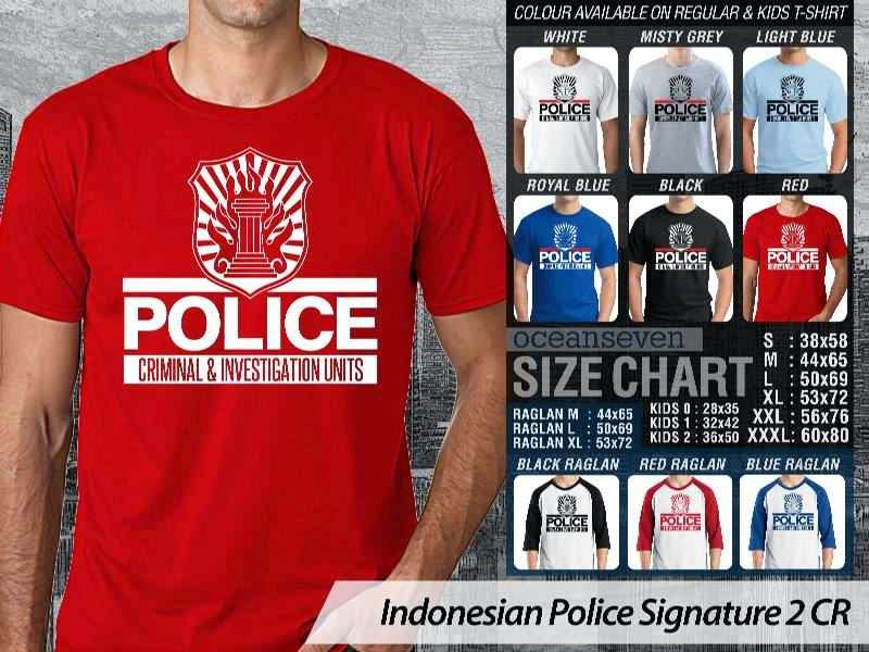 KAOS Indonesian Police Signature 2 | KAOS Police Criminal & Investigation Units distro ocean seven