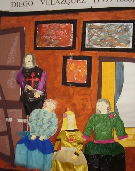 Disfraz escolar de cuadro de Velazquez con las Meninas