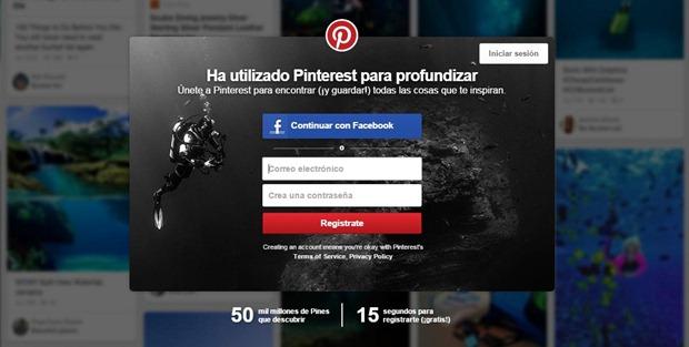 Abrir una cuenta en Pinterest desde la PC