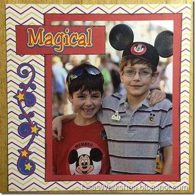 magical Disney layout featuring CM Decorative Cardstock - www.creativememories.com/user/lisagraham