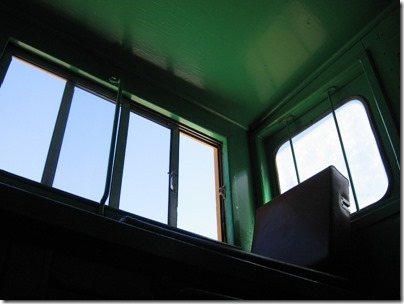 IMG_2810 Interior of Union Pacific CA-4 Caboose #25198 at Union Station in Portland, Oregon on May 8, 2010