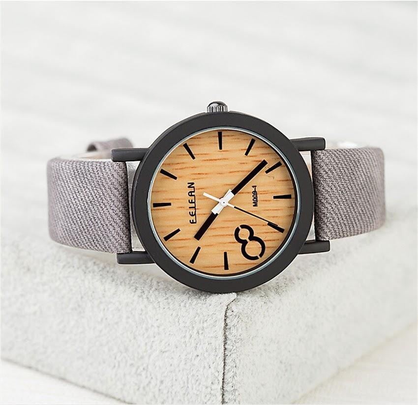 Unisex Men's Bamboo Wood Watch Wooden Quartz Wristwatch Casual Fashion Gift