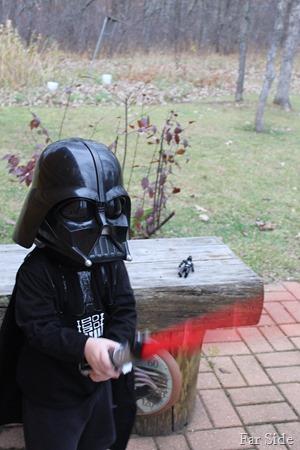 Teddy as Darth Vader