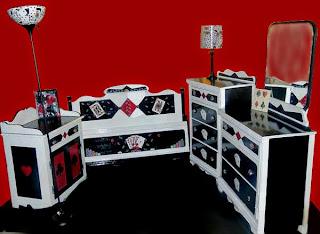 9 Piece Poker Themed Bedroom Suite-Full Shot