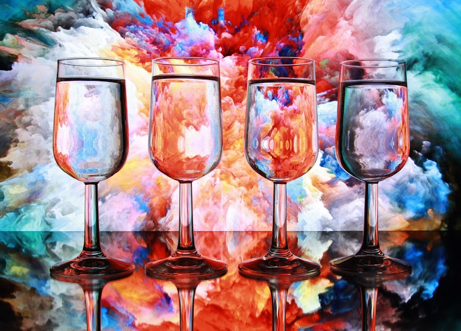 glasses of water by Peter Salmon - Food & Drink Alcohol & Drinks