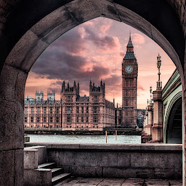 London dream by Balazs Romsics - Buildings & Architecture Public & Historical ( balazs romsics, london, dream, illustration, photographer, big ben, travel )