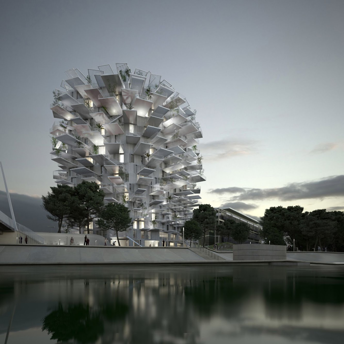 Montpellier, Francia: Folie Architecturale of the 21St Century by Sou Fujimoto And Nicolas LaisnÉ