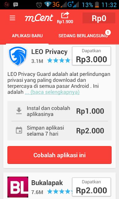 Download aplikasi android dapat imbalan pulsa