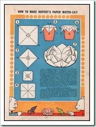 Rupert Annual 1958 inside origami