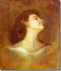 Portrait Of A Lady In Profile