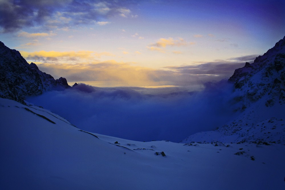 Zachód słońca w Dolinie Staroleśnej
