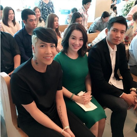 Vice Ganda, Kris Aquino and James Yap at Bimby's 1st Holy Communion