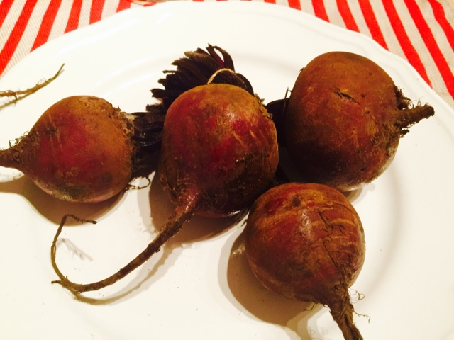 Fresh beets on a plate